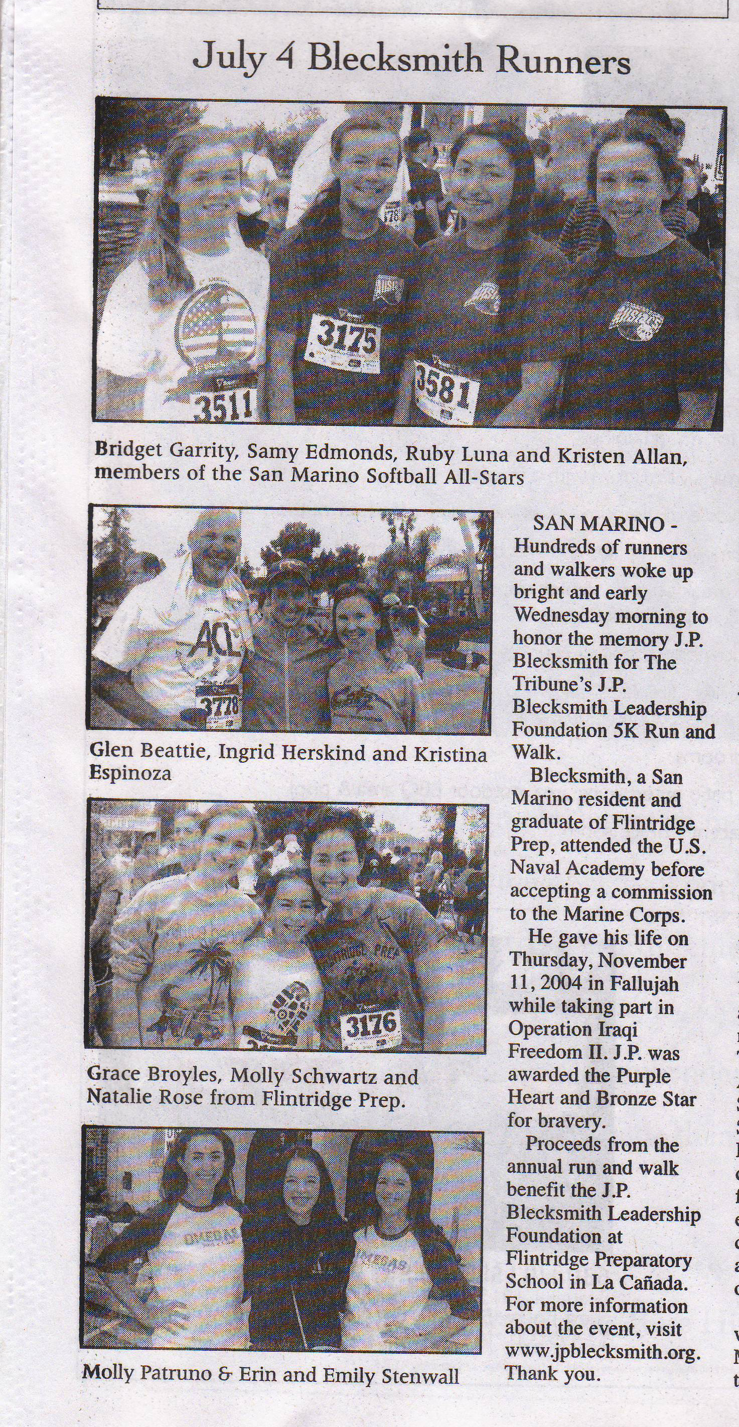 2012 Blecksmith - Tribune pictures of runners